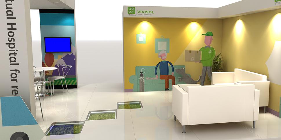 Exhibition Stand Rota : Work vivisol maga animation studio